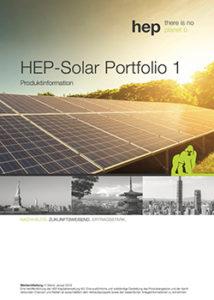 HEP Solar Portfolio 1 Cover Prospekt