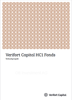 Cover Prospekt Verifort HC 1 Makler für Fonds