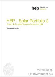 HEP Prospekt Cover Solar Portfolio 2