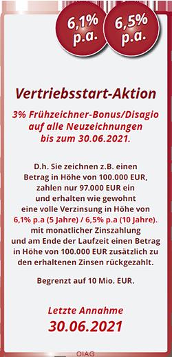Vertriebsstartaktion DEGAG Makler für Fonds Ott